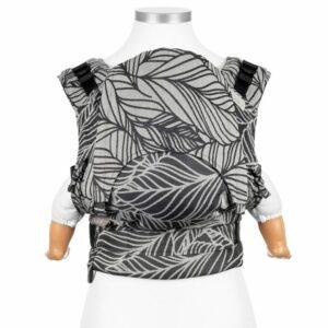 mochila-ergonomica-fidella-fusion-dancing-leaves-blanco-y-negro-porteo-ergonomico-store