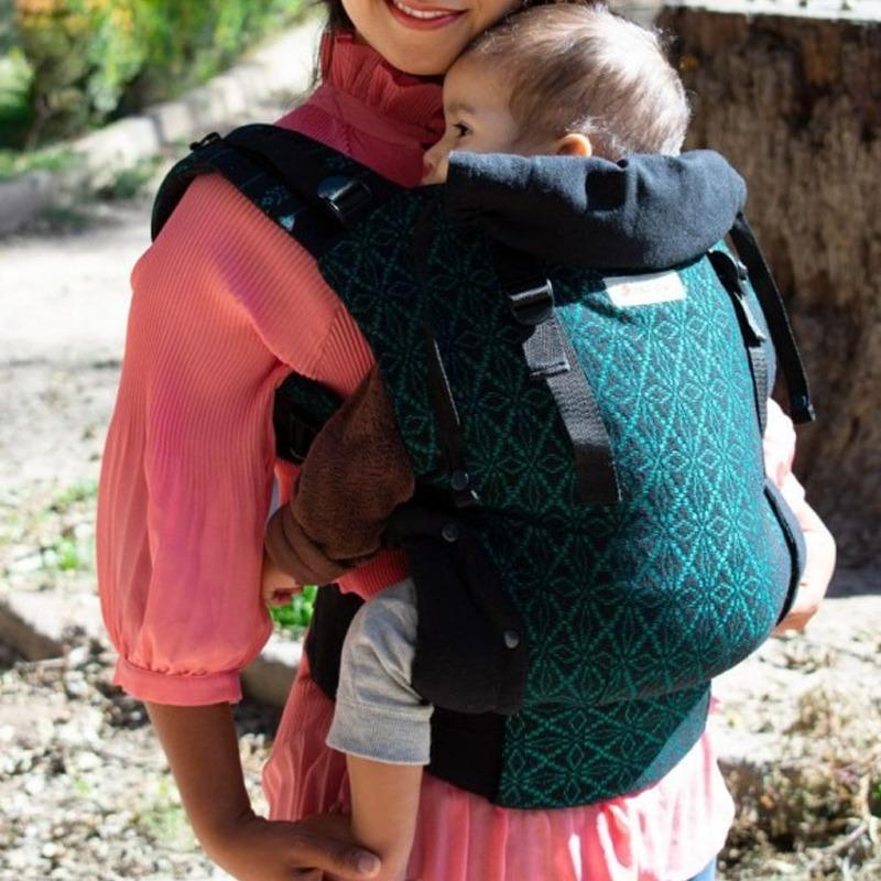 mochila-ergonomica-indajani-toddler-nochebuena-esmeralda